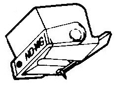 Sony ND14 G / VL14 GS oranje pick-upnaald = Tonar 773 Diamant Stereo