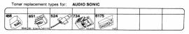 Overige typen Audio Sonic: Tonar-vervangers