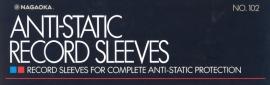 Nagaoka Discfile 102 antistatische platenhoezen pak 50 stuks