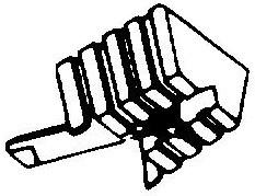 Shure M33 5 pick-upnaald