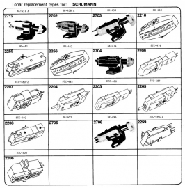 Overige typen elementen Schumann: Tonar-vervangers