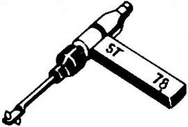 BSR ST17 pick-upnaald = Tonar 442 Saffier Normaal 78-Toeren / Diamant Stereo