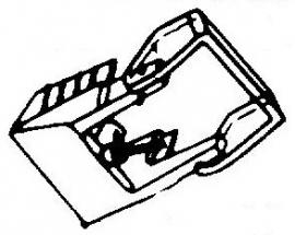 Audio Technica AT12XE pick-upnaald = Tonar 781 Diamant Elliptisch