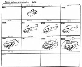 Overige typen elementen Elac: Tonar-vervangers