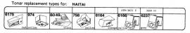 Overige typen Haitai: Tonar-vervangers