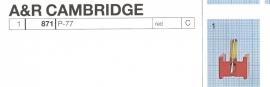 Overige typen A+R / Cambridge: MicroMel-vervangers