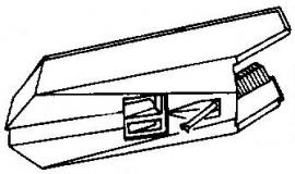 Kenwood N59 donker grijs pick-upnaald = Tonar 6138 Diamant Stereo