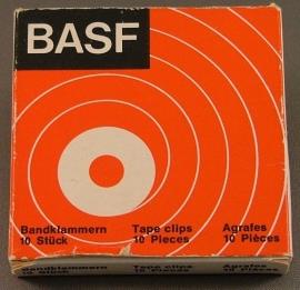 BASF bandrecorder tapeclips doosje 10 stuks