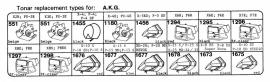 Overige typen A.K.G.: Tonar-vervangers