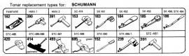 Overige typen Schumann: Tonar-vervangers