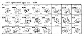 Overige typen Aiwa: Tonar-vervangers