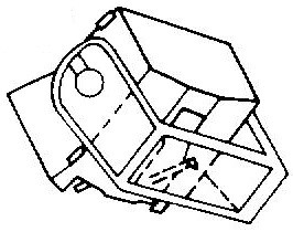 Aiwa AN F10 blauw pick-upnaald = Tonar 6208 Diamant Stereo