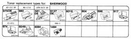Overige typen Sherwood: Tonar-vervangers