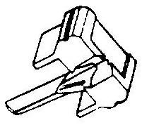 Shure M91 E zwart pick-upnaald = Tonar 469 Diamant Elliptisch