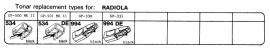 Overige typen RadioLA: Tonar-vervangers