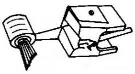 Pickering V15 Micro AM - D IV AM ivoor pick-upnaald = Tonar 583 Diamant Stereo