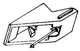 Aiwa AN70 zwart pick-upnaald = Tonar 935 Diamant Stereo