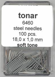Stalen naald soft tone 18.0 mm / 1.0 mm doosje 100 stuks