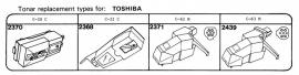Overige typen elementen Toshiba: Tonar-vervangers