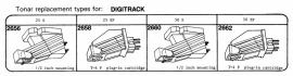 Digitrack pick-upelementenoverzicht Tonar