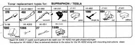 Overige typen Supraphon / Tesla: Tonar-vervangers