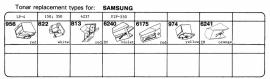 Overige typen Samsung: Tonar-vervangers