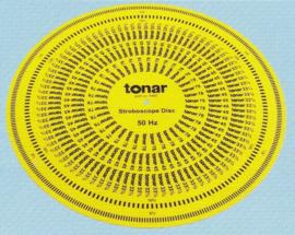 Tonar stroboscoop 12 inch /30,5 cm geel kunststof