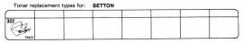 Overige typen Setton: Tonar-vervangers
