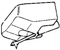 JVC DTZ 1 transparant pick-upnaald = Tonar 739 ES