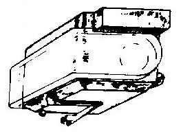 Sony ND15 G / XL15 / VL15 G oranje pick-upnaald = Tonar 731 Diamant Stereo