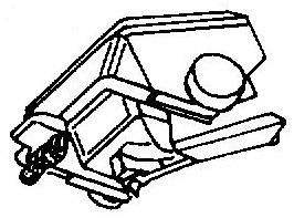 Shure Ultra 500 S zwart pick-upnaald = Tonar 1735