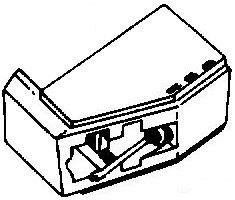Darling ATN3660YL geel pick-upnaald = Tonar 6203 Diamant Stereo / ORIGINEEL