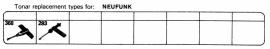 Overige typen Neufunk: Tonar-vervangers