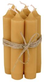 Korte Diner Kaarsjes | Mustard Geel | Set 7 | IB Laursen