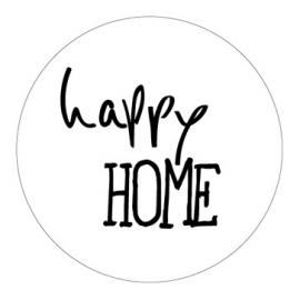 """""""Happy Home"""" Stickers Wit/Zwart Set 10"""