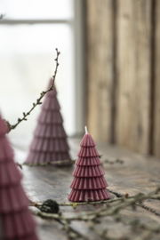Kaars Kerstboom Bordeau | Small 8,5 x Ø:5,8 | IB Laursen