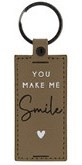 Sleutelhanger | You make me Smile | Taupe | Bastion Collections