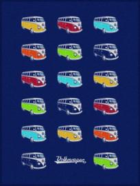 VW T1 Bus | Fleeceplaid | Gekleurde Samba | Uitverkocht