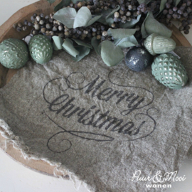 Kerst Shabby Doek | Merry Christmas | 30 x 45