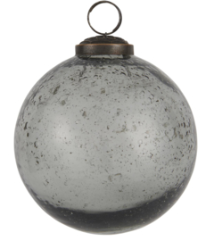 Kerstbal Glas Metal Chips | Smoke Grey | Large | IB Laursen