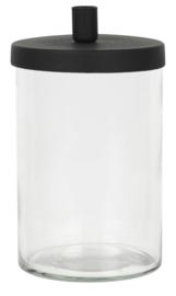 Kandelaar Glas | Metalen Deksel | voor Smalle Kaars Ø:1,3 | Ib Laursen | Uitverkocht