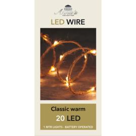 LED indoor met Jute touw | 20 LED/1m Classic | Uitverkocht