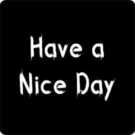 "Sticker ""Have a Nice Day"" Schoolbord Set 10"