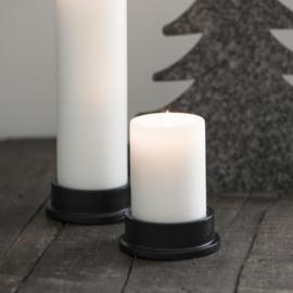 Kaarsenstandaard voor Pilaarkaars Ø:6 cm | Zwart | IB Laursen