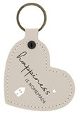 Sleutelhanger Heart | Happiness is Homemade | Naturel | Bastion Collections