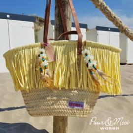 "Ibiza Standtas | Sunny Flower ""Daisy"" | Pastel Geel | Hippies"