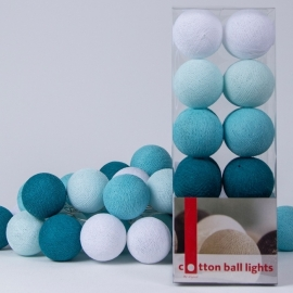 Cotton Ball Lights | Aqua | 20