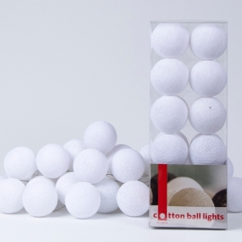Cotton Ball Lights | Wit | 20