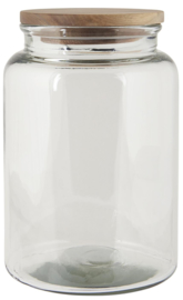 Glass jar w/wooden Cover | 3000 ml | IB Laursen