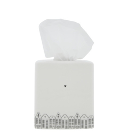 Tissue Box | Dutch Houses | Wit/Zwart | Bastion Collections